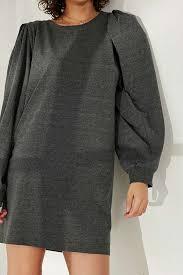 silence noise rachel shirred long sleeve t shirt dress urban