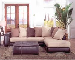 Leather Cloth Sofa Laredo Mocha Bycast Leather Hazelnut Fabric Sectional Sofa