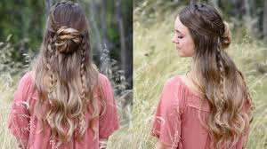 hair styles for a 53 year old half up half down bun combo hairstyle cute girls hairstyles