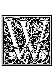 coloring page ornamental alphabet w img 28656