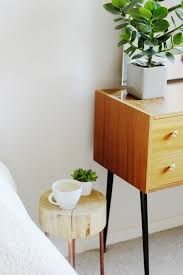 wood slice side table diy copper pipe and wood slice side table fall for diy