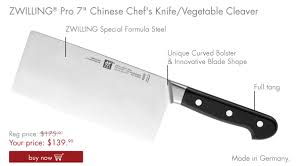 zwilling online knife of the month chinese chef u0027s knife