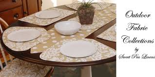 outdoor placemats for round table sweet pea linens outdoor fabric collection of placemats for round