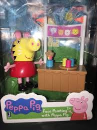 peppa pig playsets peppa pig face painting figurine playset