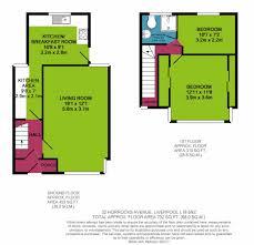 2 bed end terrace house for sale in horrocks avenue garston floorplan 2d view original