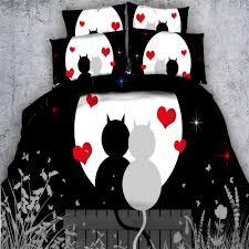 Black Bedding Online Get Cheap Black Heart Bedding Aliexpress Com Alibaba Group
