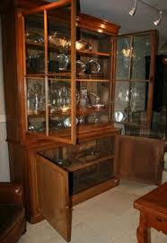 Vintage Bookcase With Glass Doors Large 19th Century Antique Bookcase Antique