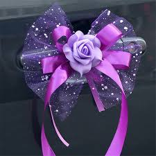 How To Make Decorative Gift Boxes At Home Diy Wedding Car Decoration Ribbon Multi Color Pull Flowers For