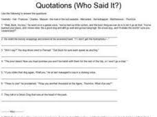 quotations who said it 3rd 6th grade worksheet lesson planet