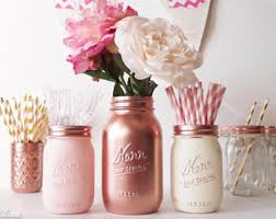 Rose Gold Home Decor by Gold Decor Etsy