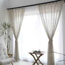 sheer window treatments elegant solid linen sheer window curtains