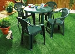 Plastic Table And Chairs Plastic Patio Table And Chairs Beautiful Green Plastic Garden