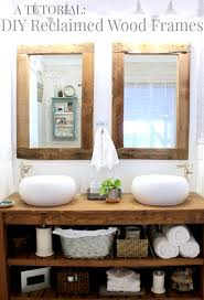 Diy Mirror Frame Bathroom Upcycling Idea Diy Reclaimed Wood Framed Mirrors