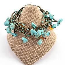chunky stone bracelet turquoise handmade and fair trade u2013 global