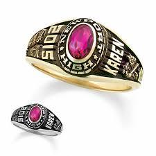 10k gold designer high school class ring by