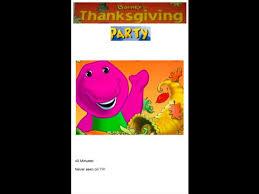 barney s thanksgiving 2000 vhs