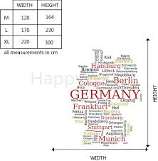Schweinfurt Germany Map by Aliexpress Com Buy German Map Wall Sticker Map Of Germany Wall