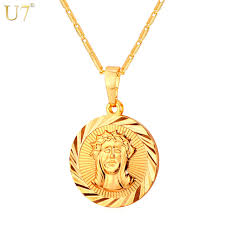 jesus piece necklace images U7 cross jesus piece necklace pendant fashion jewelry gold jpg