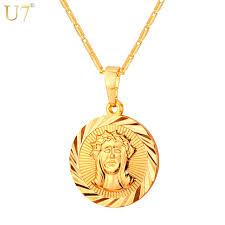 aliexpress buy new arrival men jewelry gold silver aliexpress buy u7 cross jesus necklace pendant