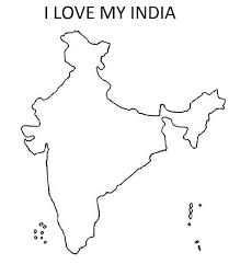 coloring pages of independence day of india map of india for kids coloring home