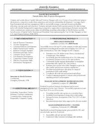 District Manager Sample Resume by District Manager Resume Objective Objective For Resume Sales