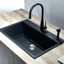 kraus kitchen sinks reviews sink narrow deep black granite