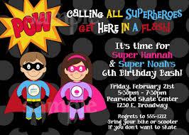 Superhero Invitation Card Birthday Invites Marvellous Superhero Birthday Invitations Ideas
