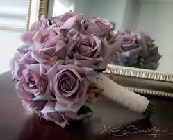 lavender roses bouquet lavender and lace silk wedding bouquet