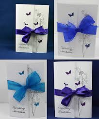 wedding invitations ebay gatefold wedding invitations butterflies handmade personalised