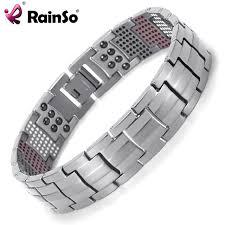 health bracelet titanium images Rainso men jewelry healing magnetic bangle balance health bracelet jpg