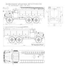 zil 131n fire truck blueprint download free blueprint for 3d