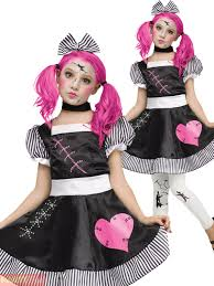 girls broken doll costume girls zombie halloween fancy dress kids