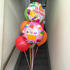 helium birthday balloons singapore flower shop florists singapore flowers gifts to