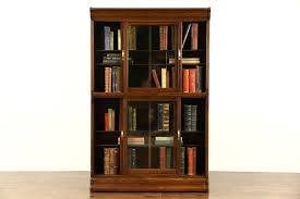 sold danner signed stacking oak 1900 antique bookcase sliding