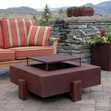 Wood Firepits Ore Square Wood Burning Pit Contemporary Patio Los