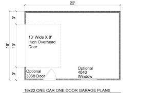 garage floorplans 16x22 detached garage plans build your own garage