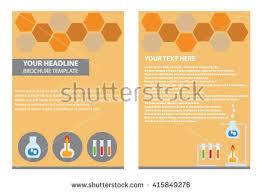 yellow blue brochure template design flyer stock vector 418124644