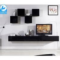 galaxi black wall mounted tv cabinet