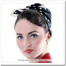 Frisuren F D Nes Haar by Collectif Clothing 50s Pin Up Dot Bandana Black Spotted