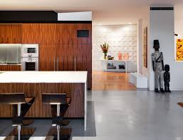 kitchen island breakfast table river house in sydney australia