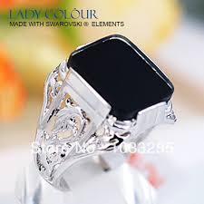 aliexpress buy mens rings black precious stones real aliexpress buy a0464 black square shape patternsside