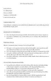 skills based resume template word skills based resume template skills exle for resume exle