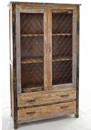 brazil wire mesh distressed bookcase buy from the french