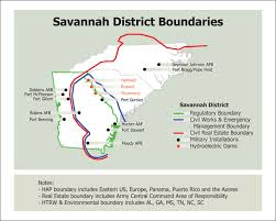 Fort Benning Map Savannah District U003e About U003e District Boundaries