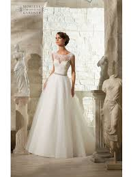 lace top wedding dress mori 5315 venice lace top tulle skirt style bridal gown ivory