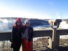 frozen niagara falls geraldine goopio we had our lunch at skylon tower s revolving dining room it provides a fantastic view of niagara falls of both the us and canada side
