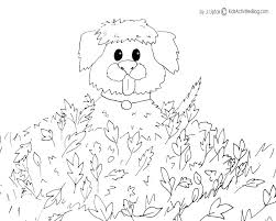 Coloring Pages Free For Kids Coloring Pages Kids Fall Dog Crayon Books Coloring Page