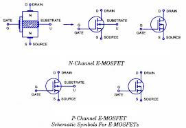 e mosfet circuit symbols free electronics circuits pinterest
