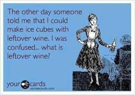 Make An Ecard Meme - make ice cubes with leftover wine ecards