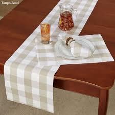 franklin buffalo check table linens